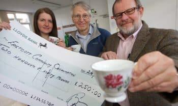 Bluebird Care Swindon serves up grant for older people