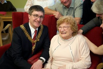 Mayor Neil Hampson and Pat